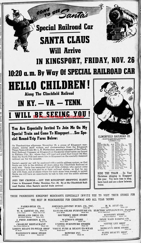 FIRST SANTA TRAIN - NOVEMBER 1943