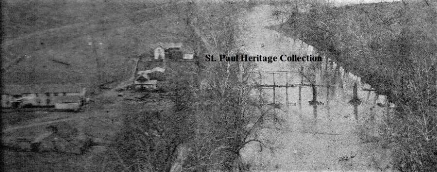 Original St. Paul-Minneapolis Clinch River bridge ca. 1902
