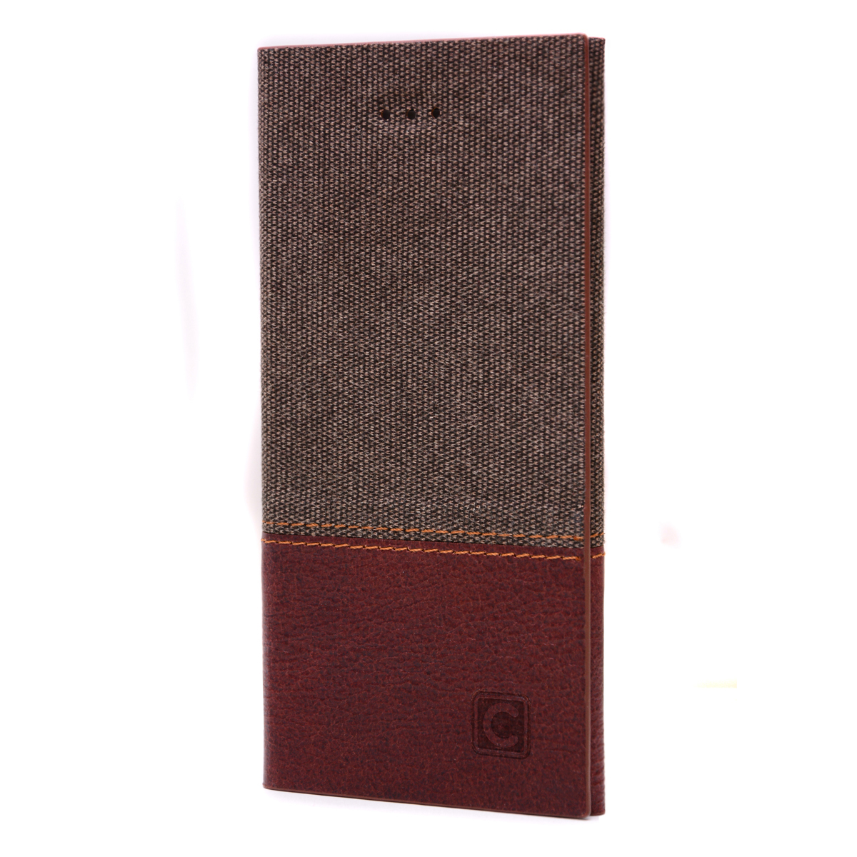 on sale b8a2c 05a4e Cowboy Duo RFID Brown Genuine Leather Spliced with Nylon Flip Wallet ...