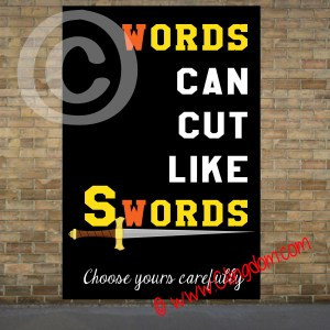 words can cut