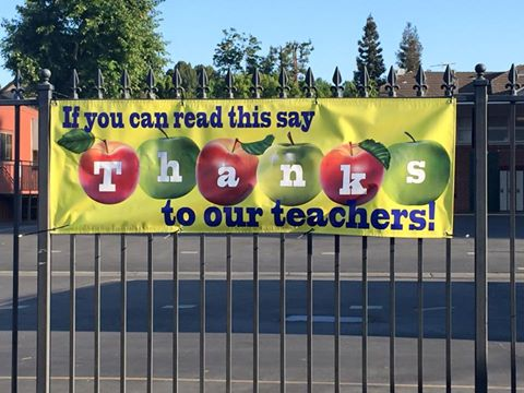 Teacher Appreciation banner St Cyril