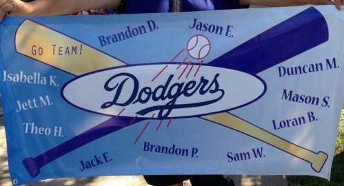 dodger team banner