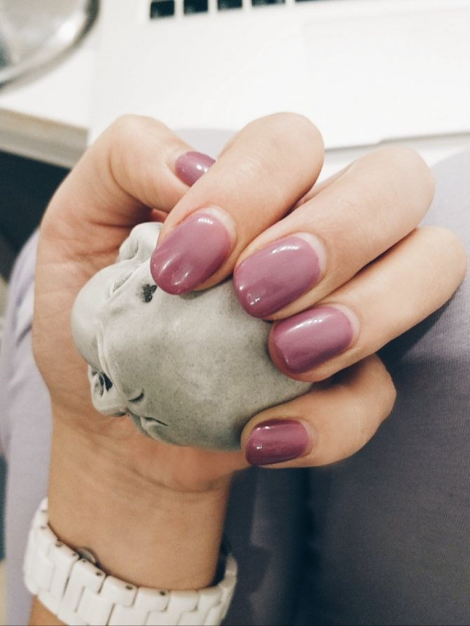 Manicure Pink Lacquer.