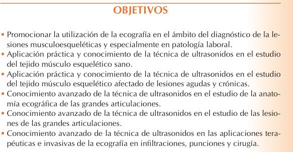 Objetivos VII Curso Internacional de Ecografía