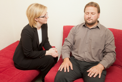 Hypnotherapy misconceived as a hypnotist using swigning watch