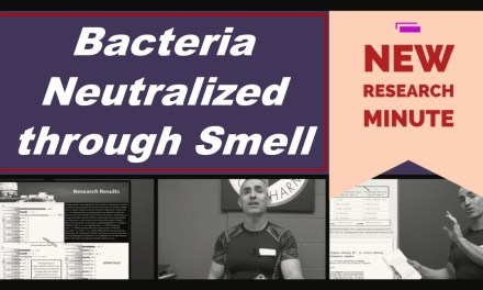Bacteria neutralized by smell