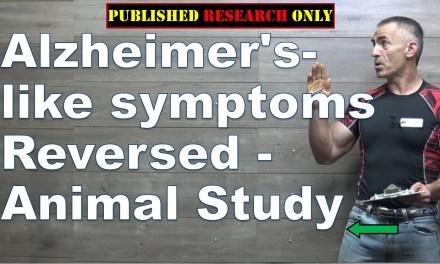 Alzheimer's-like symptoms reversed in an animal study