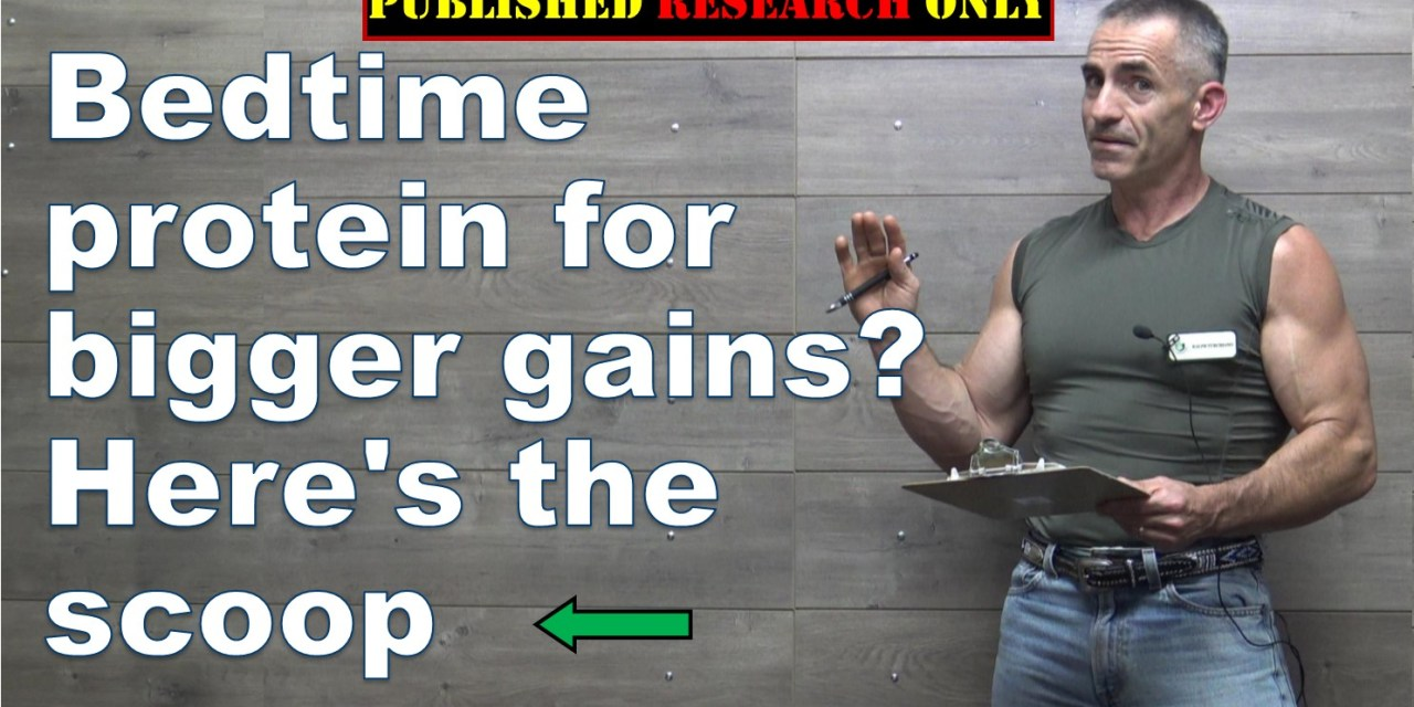 Bedtime protein for bigger gains? Here's the scoop