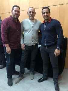 De izquierda a derecha. Dr Guillermo Leiva, Dr Rubén Davó y Dr Raúl Galzagorry, Curso de Nobel Biocare Trefoil Madrid 1de febrero del 2019