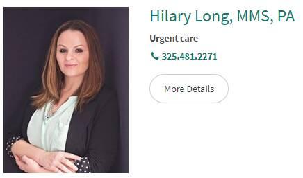 Hilary Long, MMS, PA