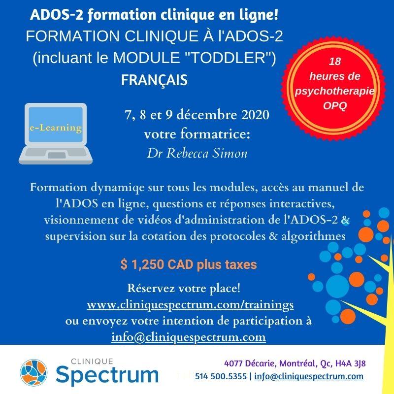 Online Training ADOS 2020 - Français