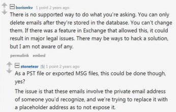 A response captured in the Reddit chat warning Combetta that what he wants to do is illegal. (Credit: Reddit)