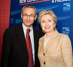 John Podesta and Hillary Clinton in 2007. (Credit: Flickr)