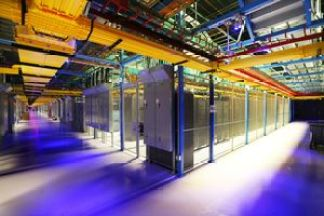 An inside look at the Equinix facility in Secaucus, NJ. (Credit: Chang W. Lee / New York Time)