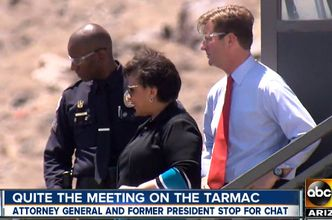 Attorney General Loretta Lynch arrives in Arizona on June 29, 2016 for a planned visit to promote community policing.. (Credit: ABC News)