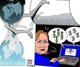 Wikileaks Cartoon (Credit: Latmfe / Wikileaks)