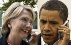 Hillary Clinton and Barack Obama (Credit: public domain)