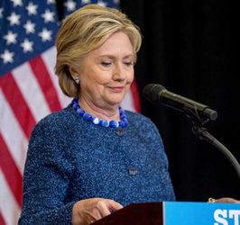 Clinton holds an unscheduled news conference to talk about FBI inquiries on October 28, 2016. (Credit: Andrew Harnik / The Associated Press)