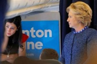 Abedin crying after learning the FBI has re-opened the Clinton email investigation. (Credit: public domain)