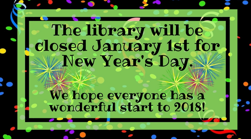 Library Closed for New Years Day  Clinton Public Library