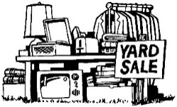 Image result for getting ready for a yard sale clip art