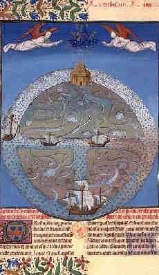 Una miniatura del siglo XII donde se ven los rïs y la T.