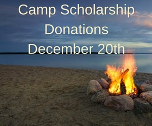 Camp scholarship donations