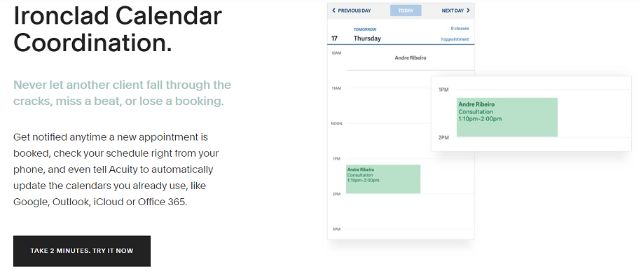scheduling software can synchronize with all other calendar apps