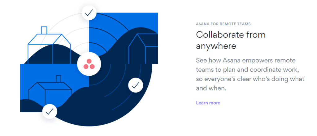 remote collaboration within a project team
