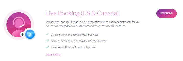 scheduling service live booking plan