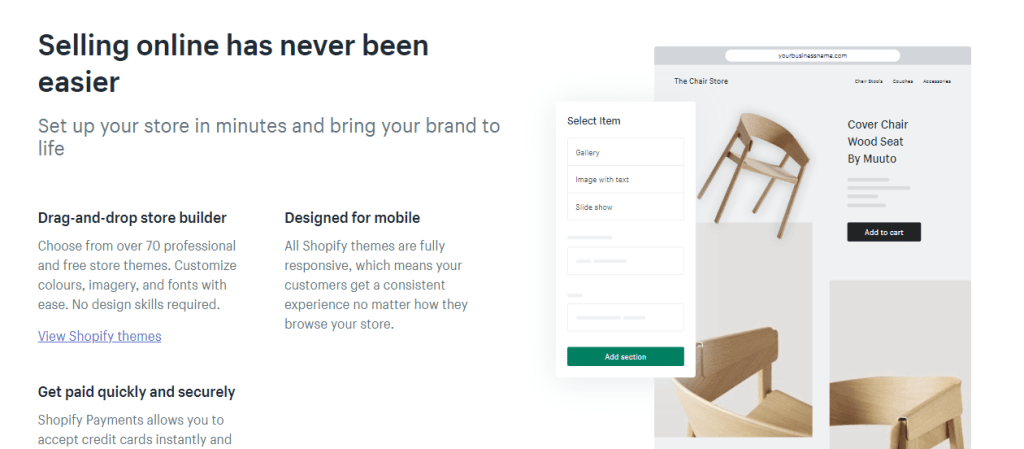 create online store within 10 minutes