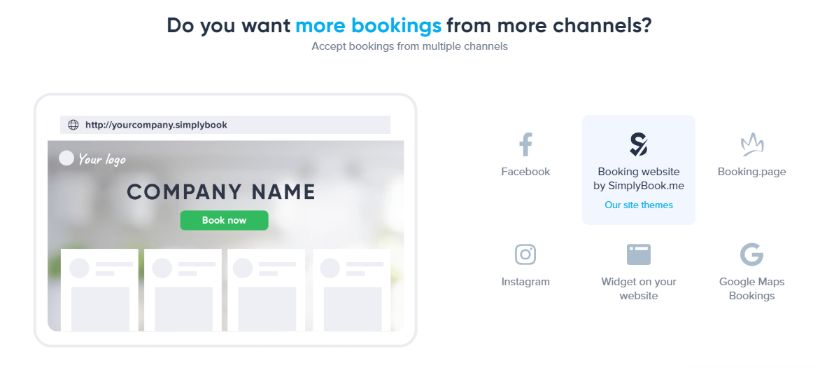 collect bookings from any social media page or channel