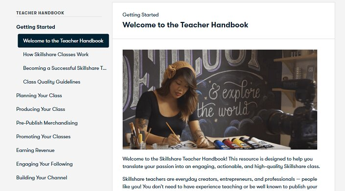 teacher handbook how to build online course