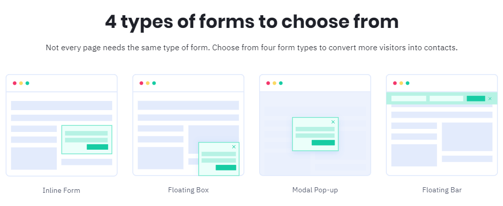 4 types of subscription forms to choose