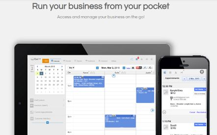 connect to your scheduling software remotely from anywhere using other device