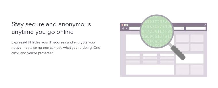 Military-grade encryption connection & with stay hidden