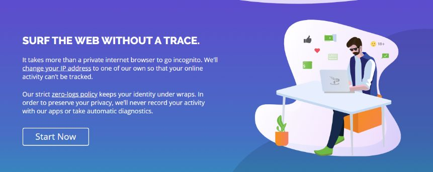 Surf the web anonymously with best VPN service like a ghost, no trace, nothing