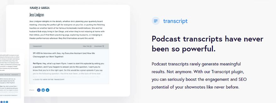 With Podcast Transcript Plugin – Make it Automate