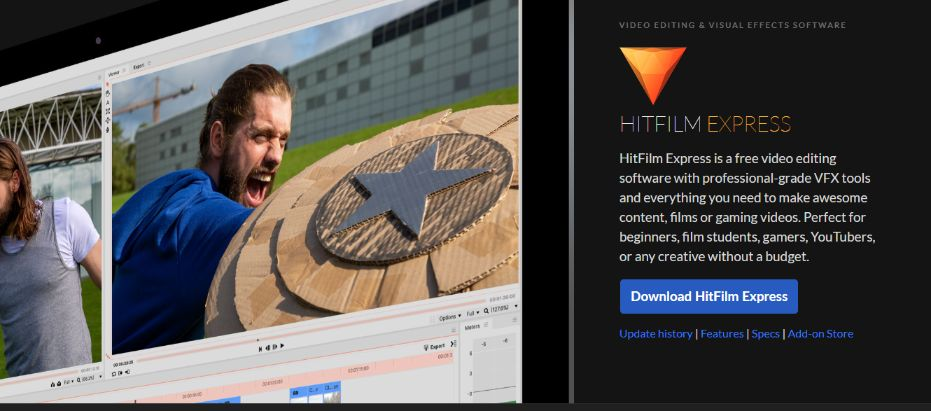 HitFilm Express Next Generation Video Editor for Hollywood movies
