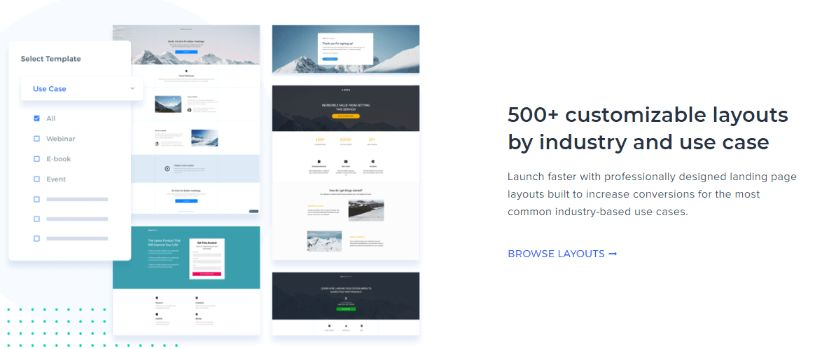 Huge Collection of Pre-Designed Landing page templates