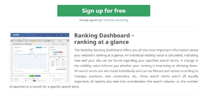 Excellent SEO dashboard to track keywords & website ranking performance