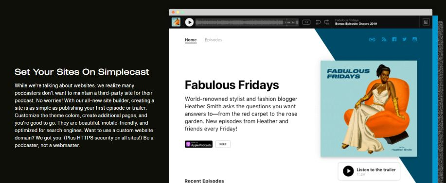 Modern or Classic Website for Podcast – Choice is yours
