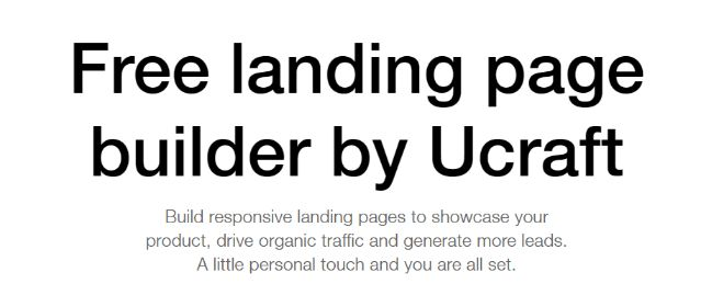Free Landing Page Builder with Premium Feature
