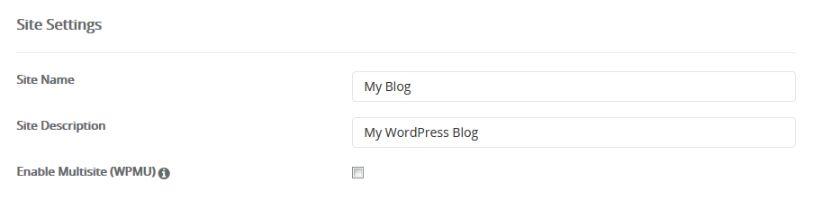 type your site name & description