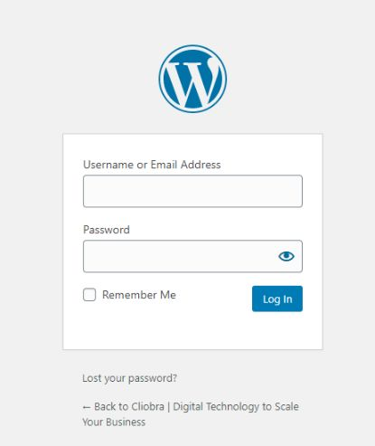 it is a WordPress admin login panel