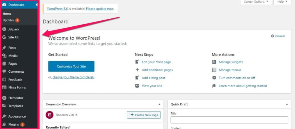 before you do anything first familiarize yourself with WordPress dashboard