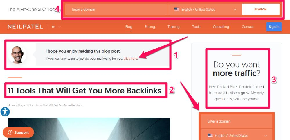 Utilize above the fold space of your website to grab the attention of 80% audience.