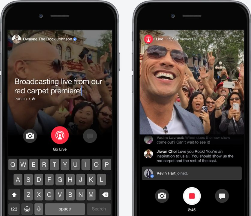 Facebook live can be very useful for streaming videos.