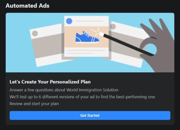Initiate Facebook automation ads system. It will walk you through to identify a target audience & how to market your products to them.