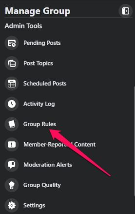 don't forget to setup group rules.